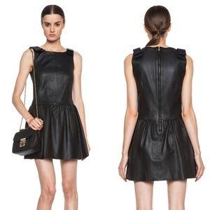 RED Valentino Nappa Lambskin Leather Tank Dress